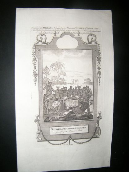 Millar 1782 Folio Print. Natives of the Caribee Islands, West Indies. Cannibals | Albion Prints